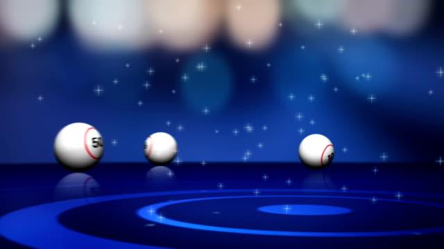 Falling Bingo Ball and Final Lotto Text video