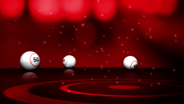 Falling Bingo Ball and Final Text video