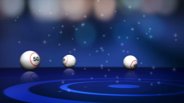 Falling Bingo Balls and Final Text, 4k video