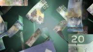 Falling Canadian Money (Loop) video
