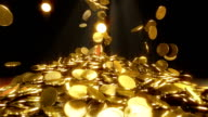 HD: Falling coins video