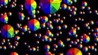 Falling color wheel video
