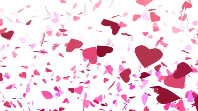 Falling Confetti Hearts video