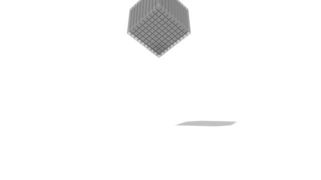 3D falling cubes video