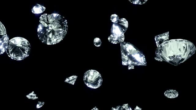 Falling Diamonds Background video