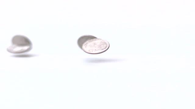 Falling Dimes Slow Motion video