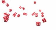 Falling Dollar Cubes video