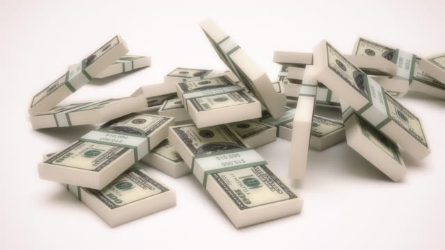 4K Falling Dollar Stack video