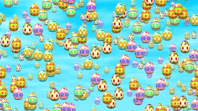 Falling easter eggs video
