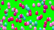 Falling easter eggs with green screen video