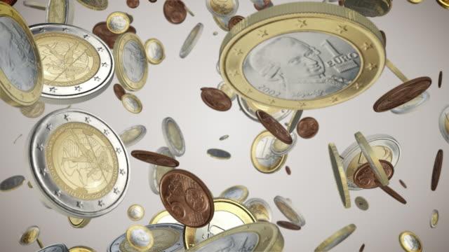 Falling Euro Coins Loop video