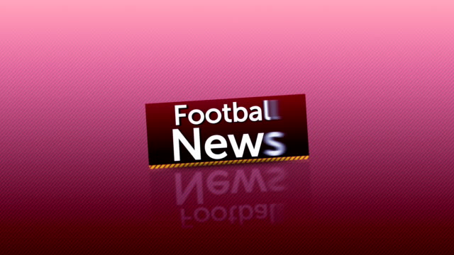 Falling Football Balls and News Text video