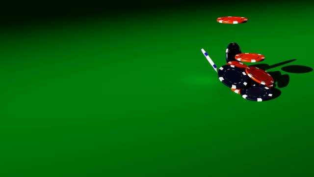 Falling Gambling Chip video