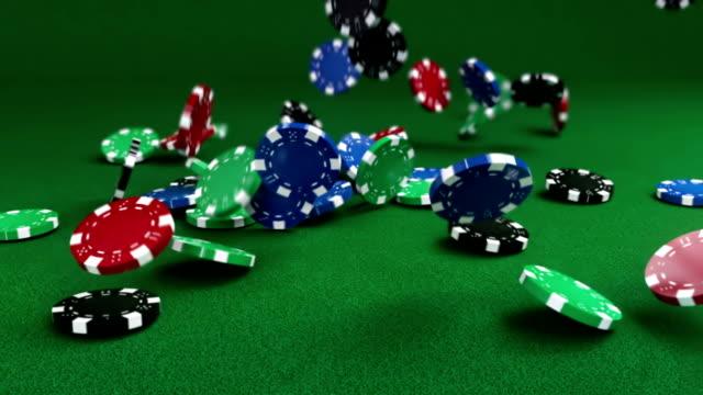 Falling Gambling Chips video
