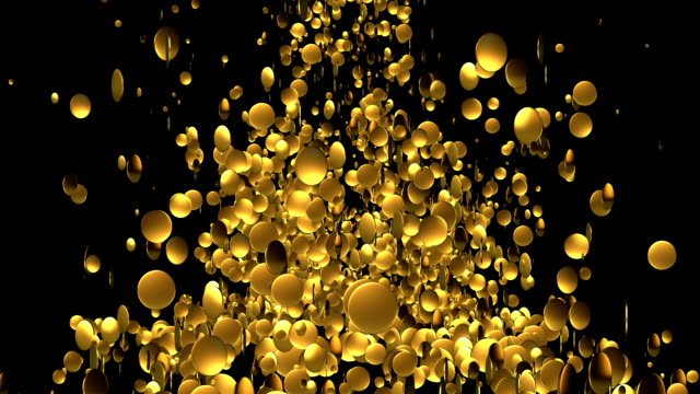 Falling Gold Coins Background with Luma Matte video