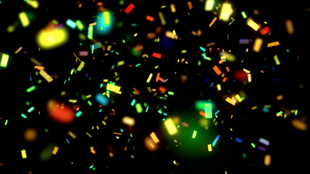 Falling holiday confetti video