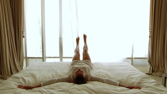 Falling in bed (HD 1080) video