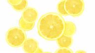 Falling lemon slices video