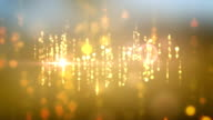 Falling Lights Background Animation With Lens Flare Effects video