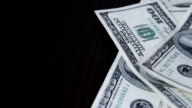 falling money close-up video