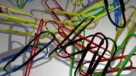 Falling Multicolor Paper Clips video