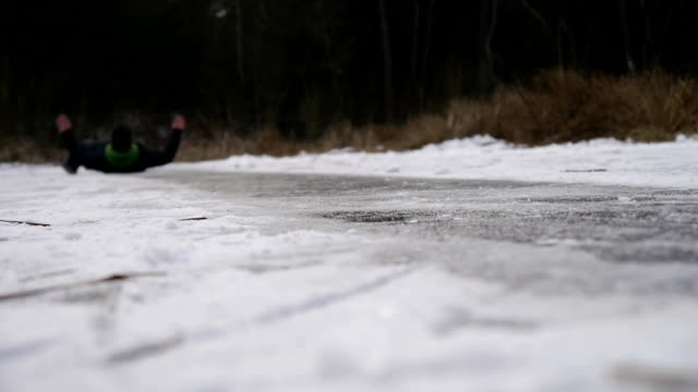 Falling on ice video