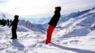 falling on snow video