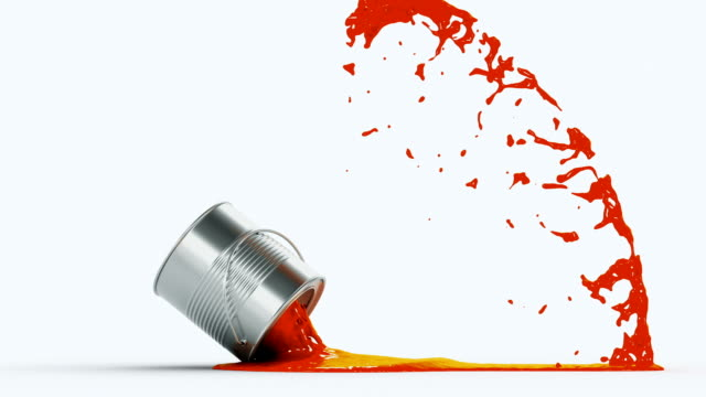 falling paint can video