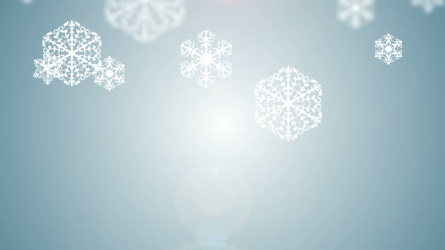Falling snowflakes on snow. video