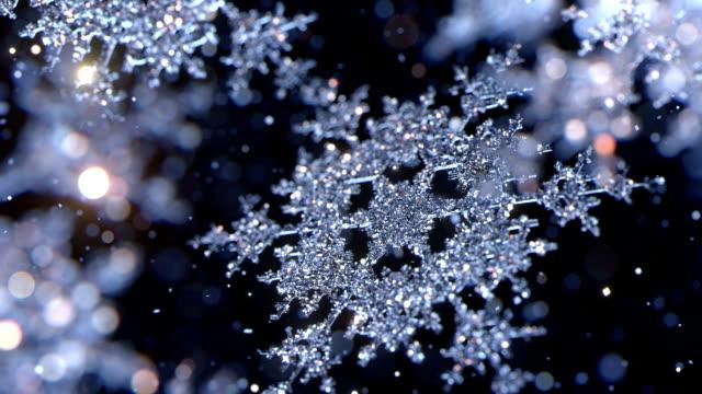 Falling snowflakes video