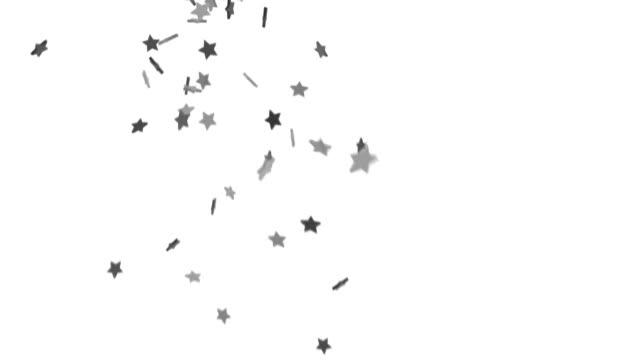 Falling Stars Background - Silver Fall (HD) video