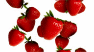 Falling strawberries video