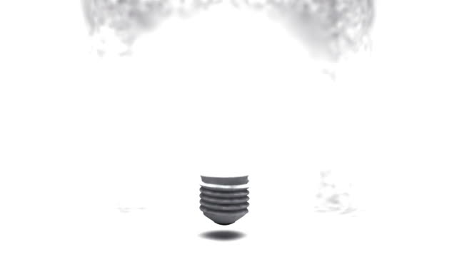 Falshing bulb in a box video