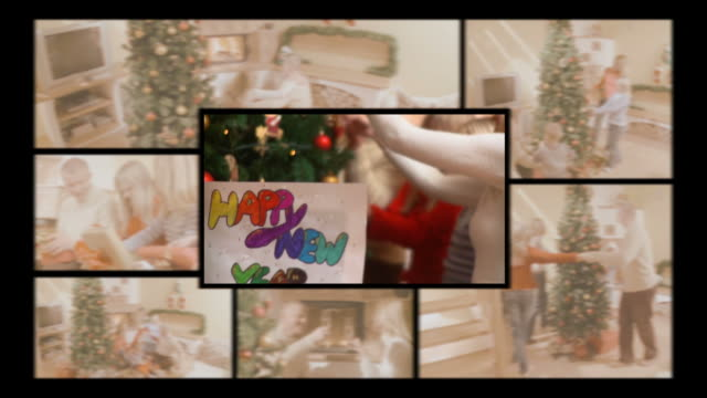 HD MONTAGE: Family At New Year's Eve video