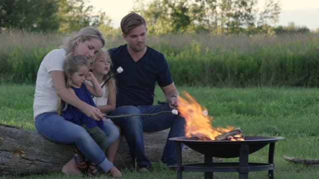 Family Camping in Summer video