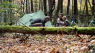 Family Camping In The Woods Of North Carolina video