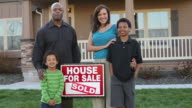 Family celebrates new home video
