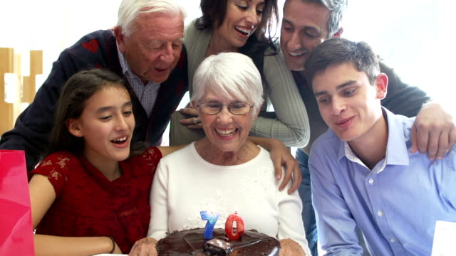 Family Celebrating 70th Birthday Together video