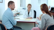 Family consulting their physician video