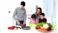 HD: Family Cooking Together. video