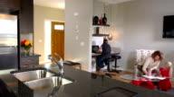 Family Doing Homework, Contemporary Home video