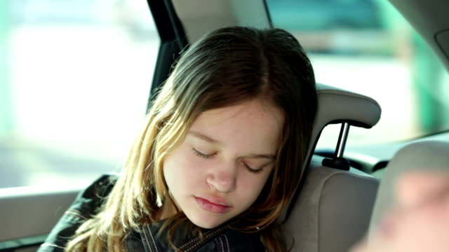 HD CLIP: Family driving in a car video