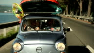 HD STOCK: Family driving on summer holiday video