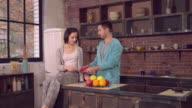 Family enjoy morning in apartment video