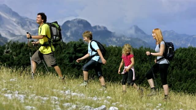 Family Enjoying Hiking video