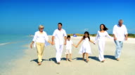 Family Generations Walking Together video