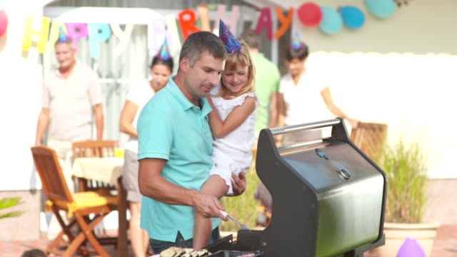HD: Family Having A Barbecue Party video