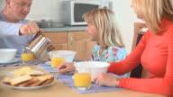 Family Having Breakfast video