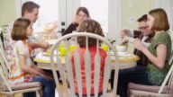 Family having dinner together video