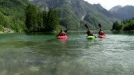 HD: Family Having Fun Kayaking On The Lake video